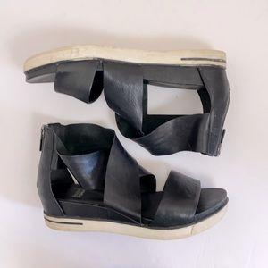 Eileen Fisher Sport Tumbled Leather Sneaker Sandal